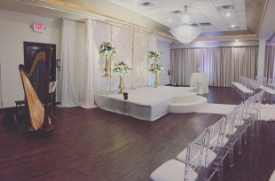 Wedding Ceremony Harp banquet hall pic