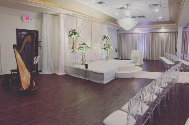 Wedding Ceremony Harp banquet hall pic